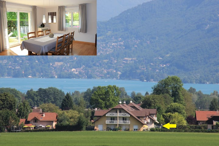Luminous appartment of 87m² next to Annecy Lake
