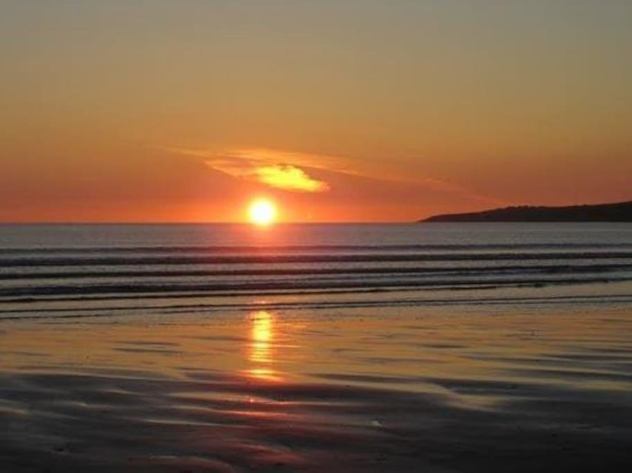 Ballyheigue is renowned for its amazing sunsets.