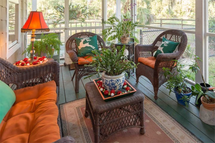 Relaxing porch.