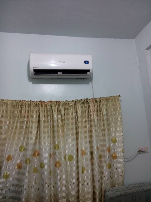 Split type aircon 1 hp inside bedroom
