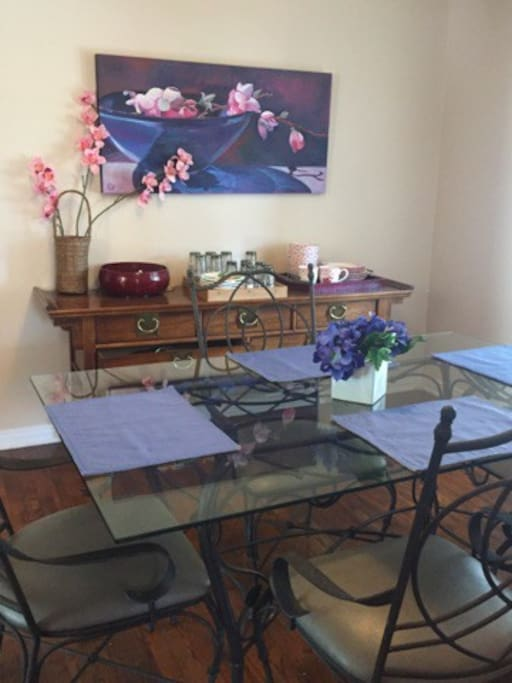 """Dining Room with """"local menus"""""""