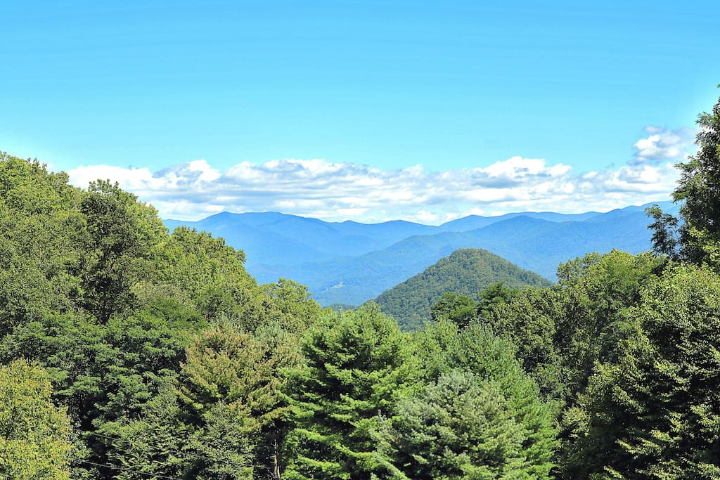 Summer View of Waterrock Knob and the Great Smoky Mountains!