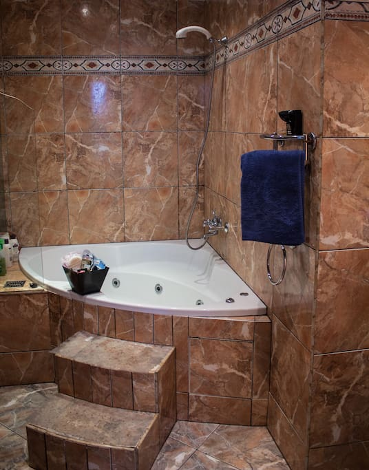 Our bathroom with jacuzzi tub