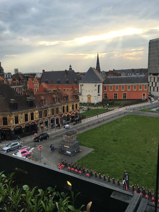 Vue sur le Vieux Lille et le Peuple Belge (Incredible view on the Old city and Peuple Belge)