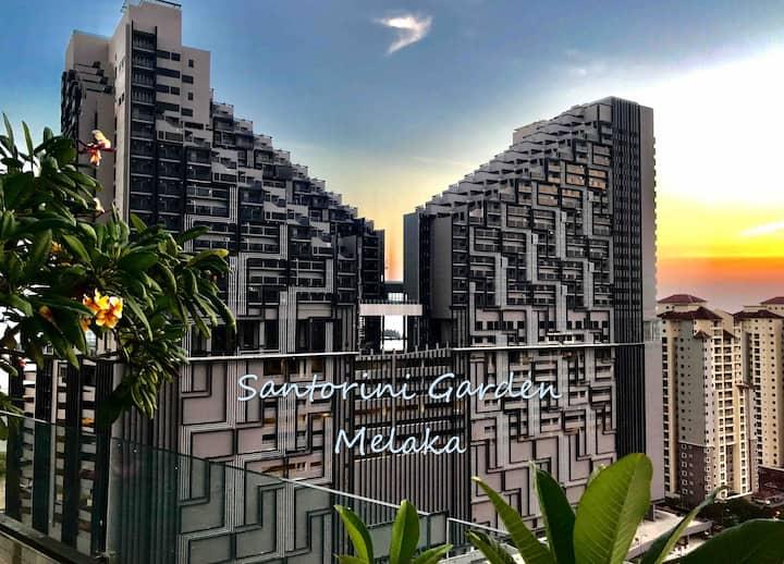 马六甲圣托里尼花园公寓 Melaka Santorini Garden Apartment