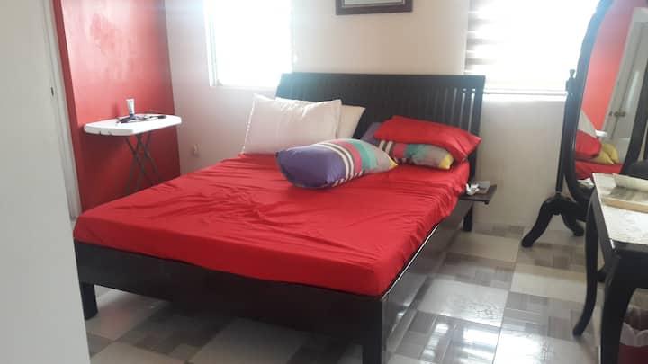 spacious room, quiet subdivision & accessible