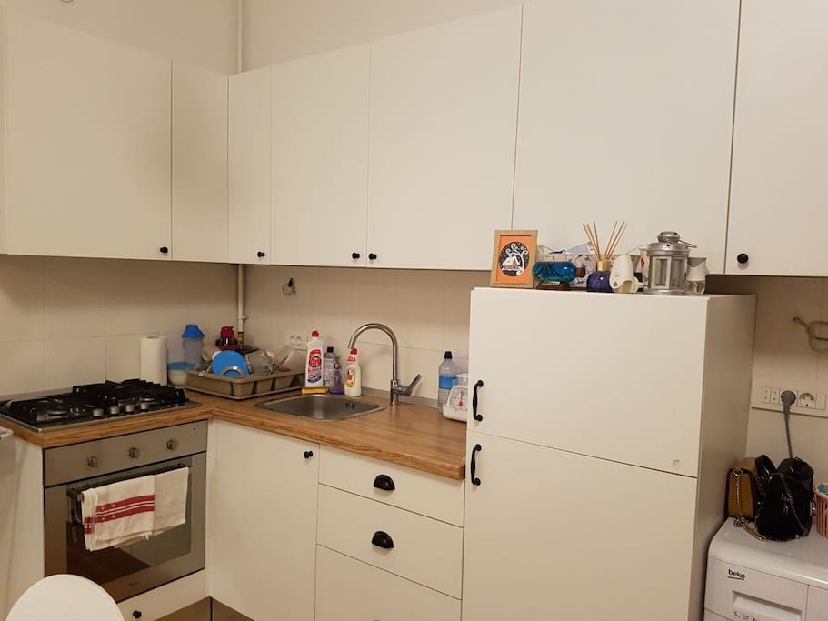 Kitchen is fully equipped with everything you need.