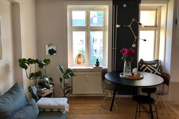 Very cozy apartment with Danish design and 'hygge'