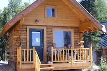 My Alaska Cabin. Relax on the deck or on the benches by the fire pit in front of the cabin. Firewood available.