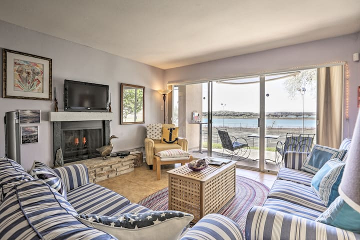 Waterfront Condo w/Patio - Steps from Canyon Lake!