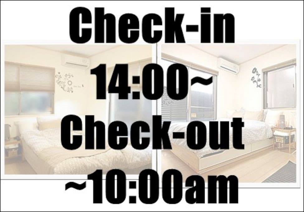 Check-in is after 14 o'clock. Check out is 10:00 am before. You can not put your luggage before check-in or check out after