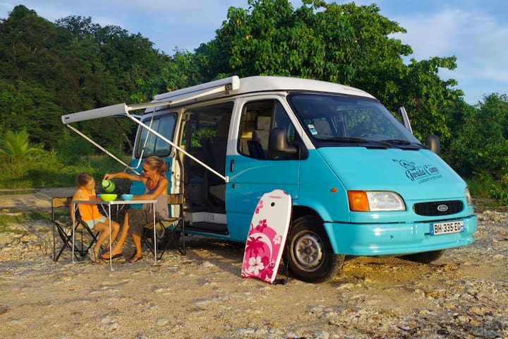 Guadeloupe in camper-van
