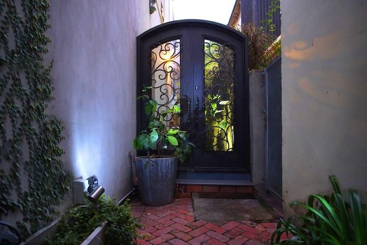 Ornate Iron Entrance