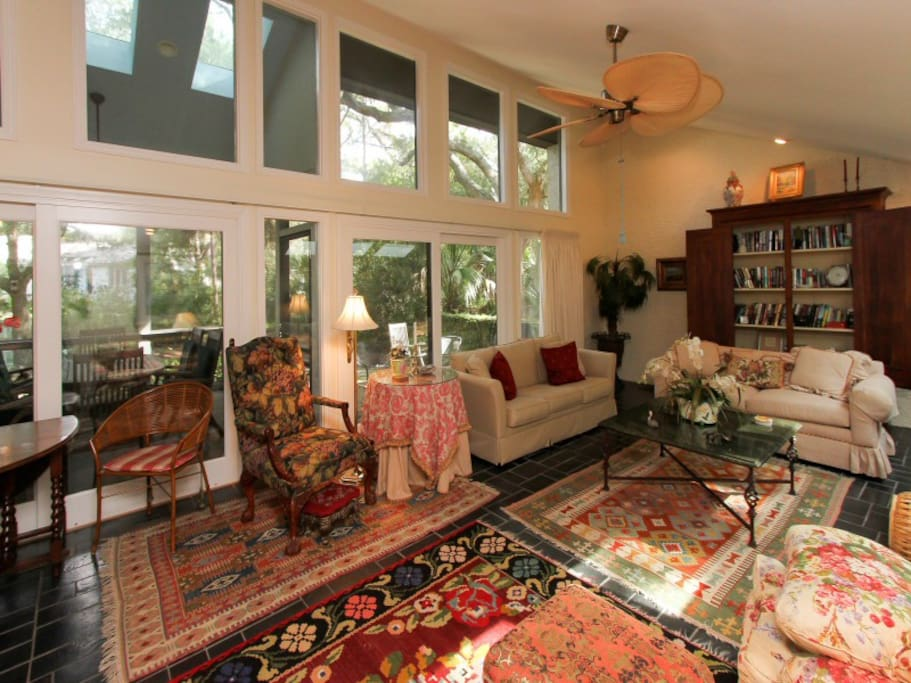 Living Room at 4 Pintail Court with Access to the Screened In Porch