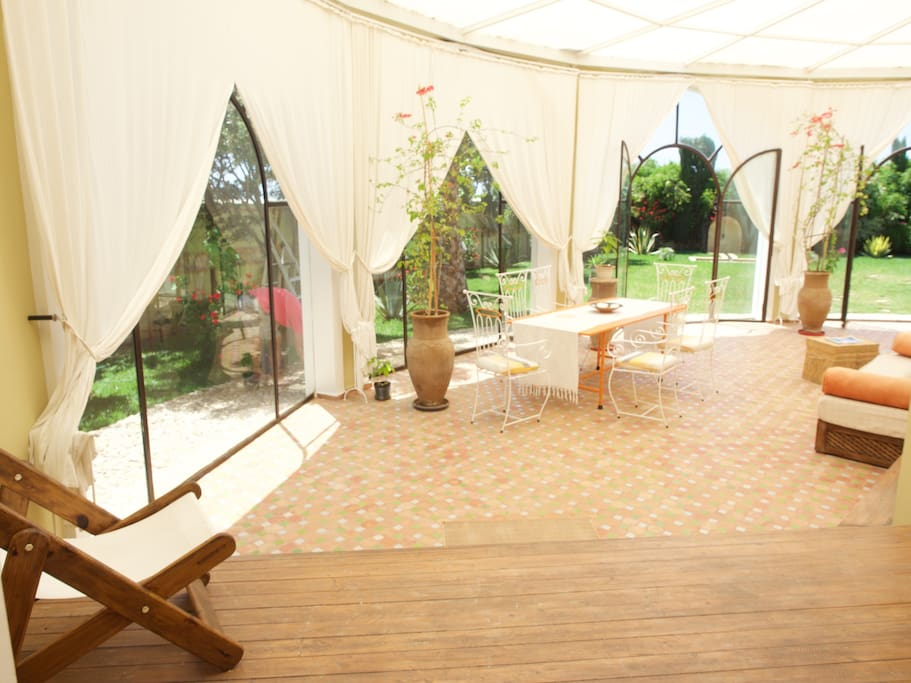 Amazing open, breezy space to chill out or enjoy a dinner under the stars
