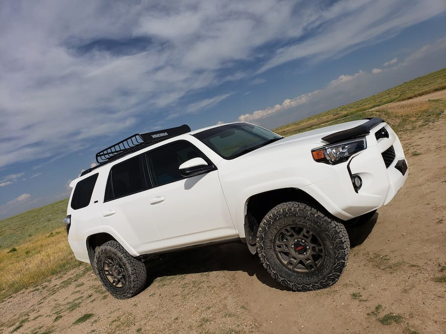 Inquire about our lifted  2018 Toyota 4Runner for additional fee per day