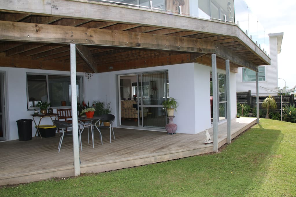 Your own deck with seating and wicked views of the sea.