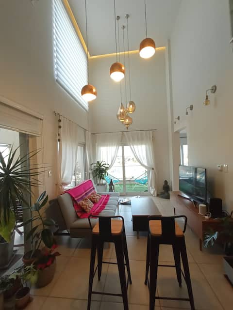 Beautiful duplex, with balcony, terrace with barbecue and garage