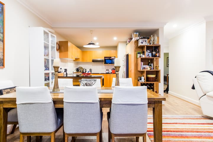Dining and into kitchen