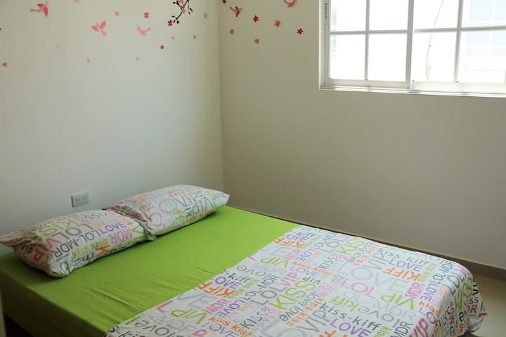 Wonderful and cozy private room with double bed.