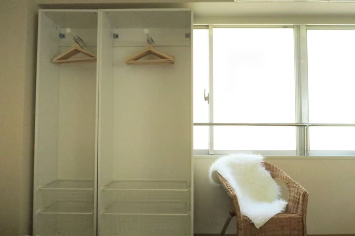 Place for you to hang your clothes