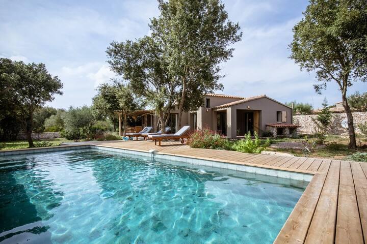 Villa de charme avec piscine chauffée à Bonifacio