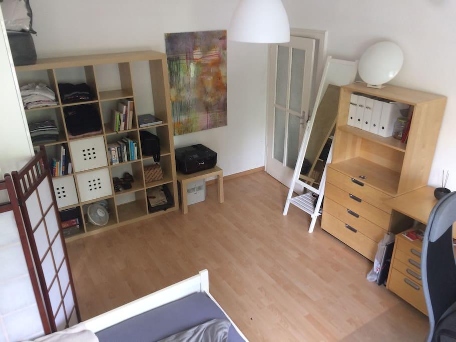 living- & sleepingroom