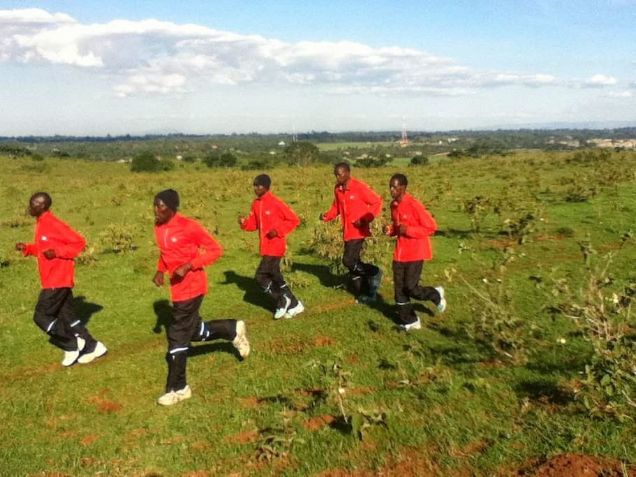High altitude training on Ngong Hills (2,200 m above sea level)