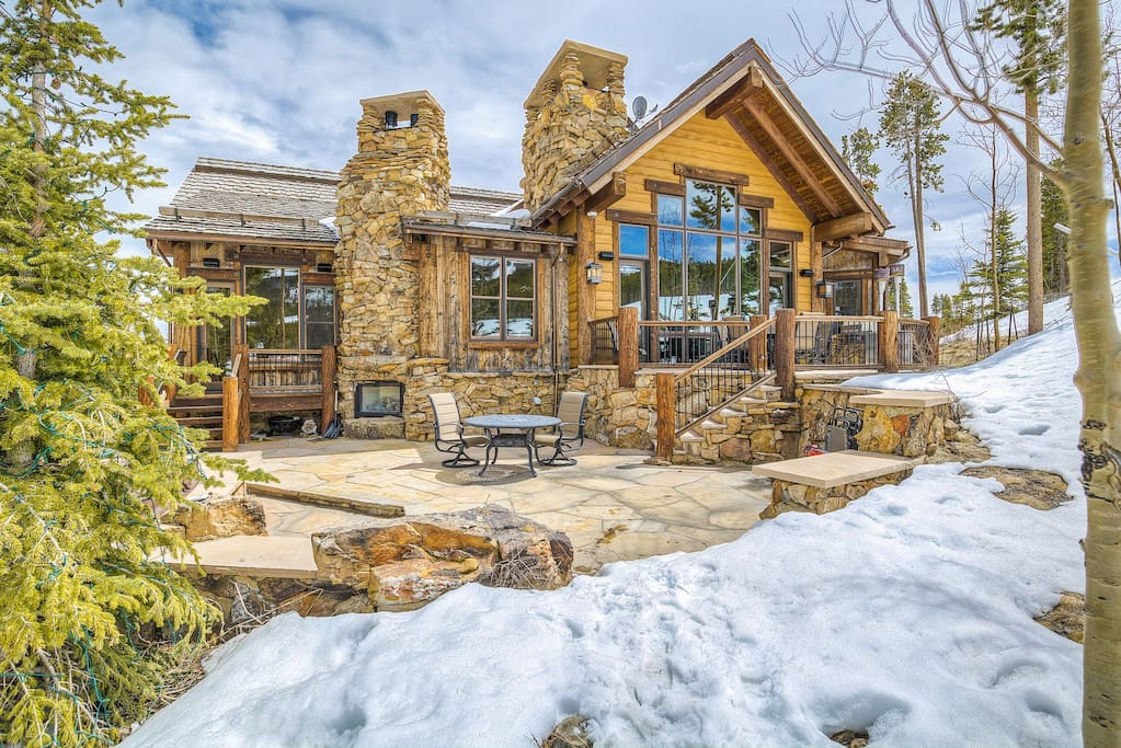 Patio with Grill and Private Hottub Overlooking Breckenridge Resort Main Base Area