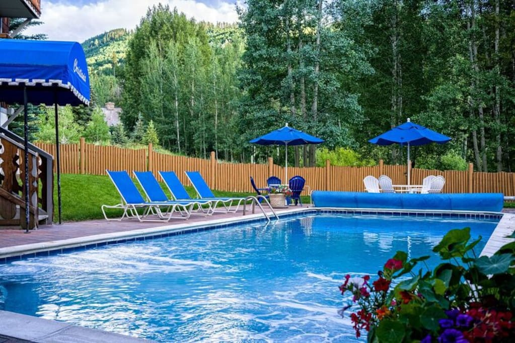 Outdoor heated pool on-site