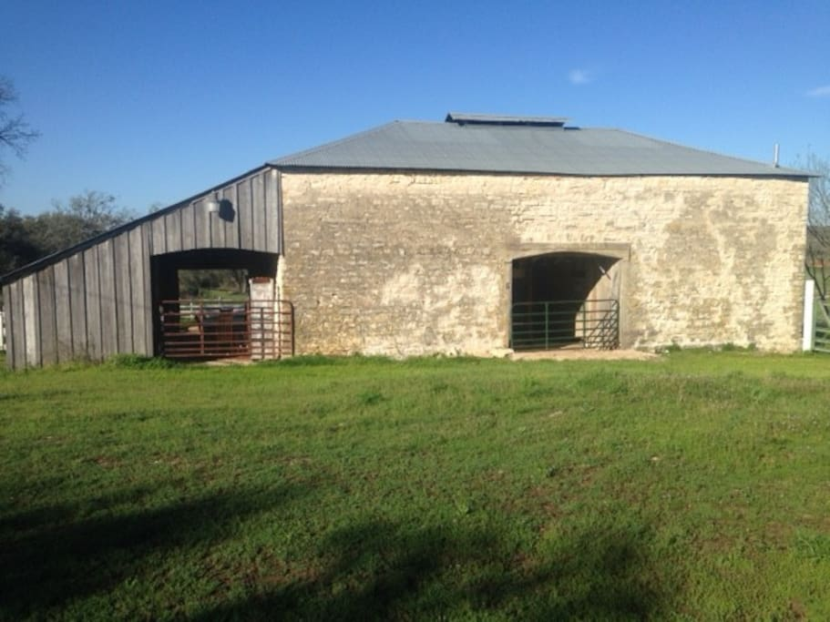 The Hay Loft Suite is upstairs in our barn, built in 1905, we have 3 suites in this classic Hill Country barn.