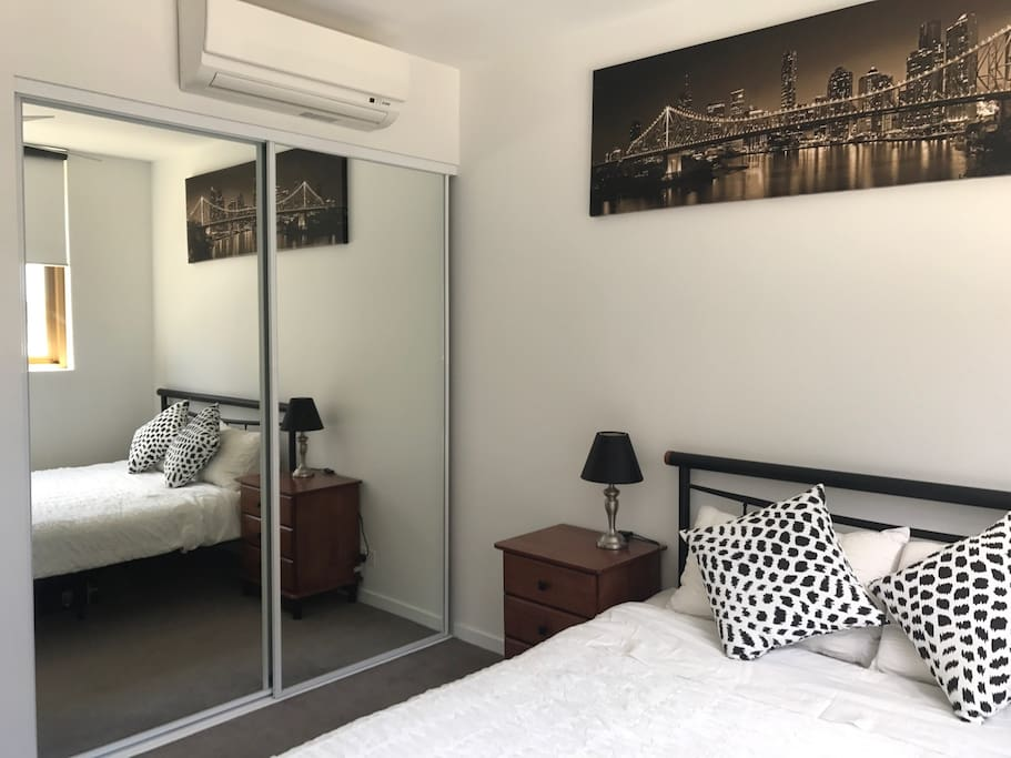 Your bedroom has an aircon