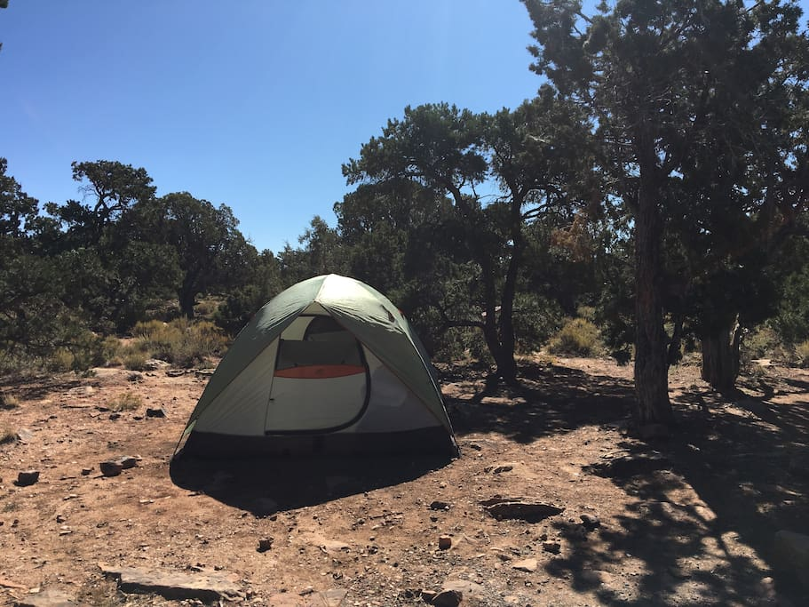 Standard appearance of Grand Canyon camping sites