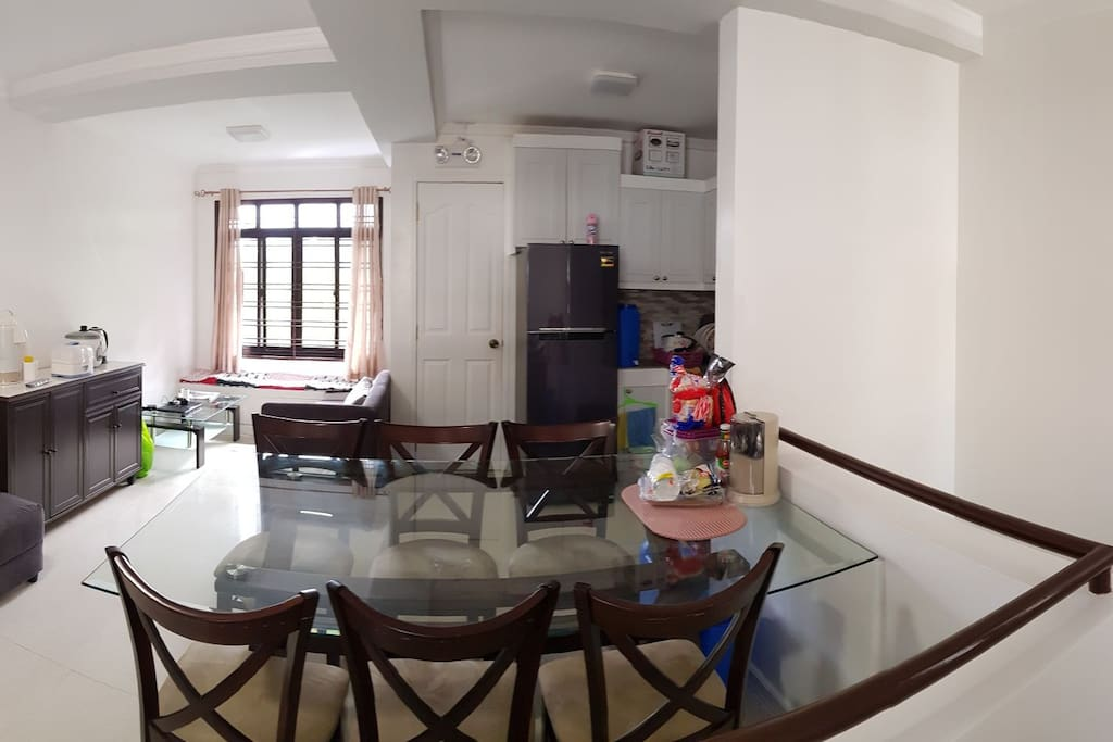 Living/Kitchen/Dining Room with Toilet and Bath. 1st Floor.