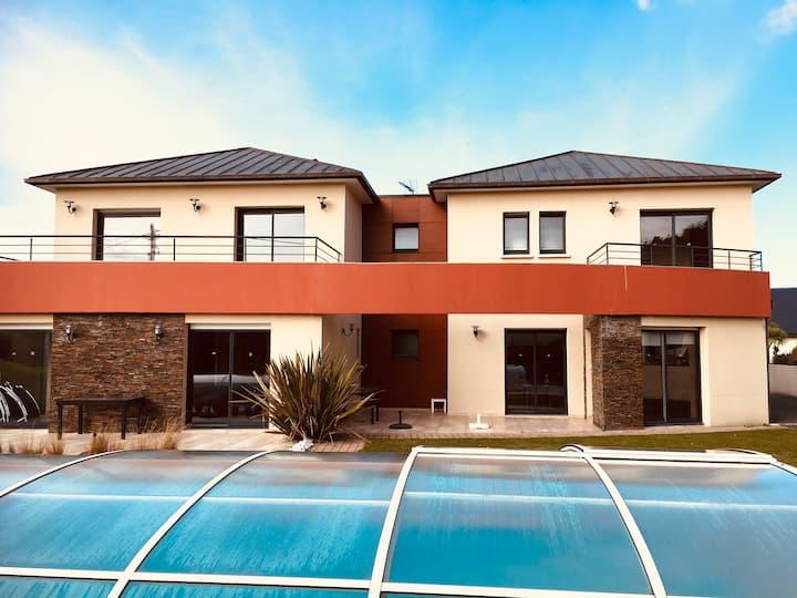 NOUVEAU Villa 15 personnes piscine  - Plage à 300m
