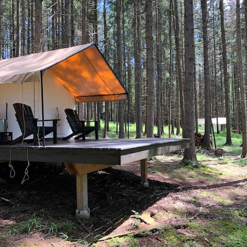 The space in between tents is far enough for privacy but close enough to enjoy with friends.