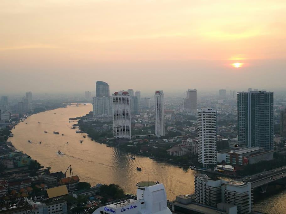 Balcony view (Sunset)