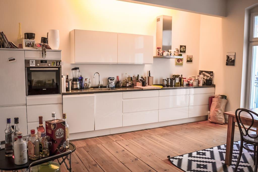 und danach reinigt sich die Küche von alleine :)