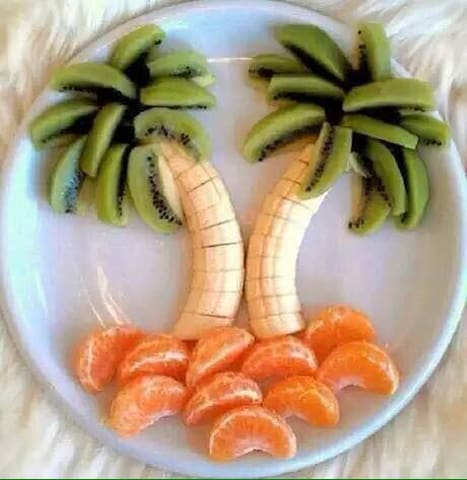 A fresh dish made of delicious fruits