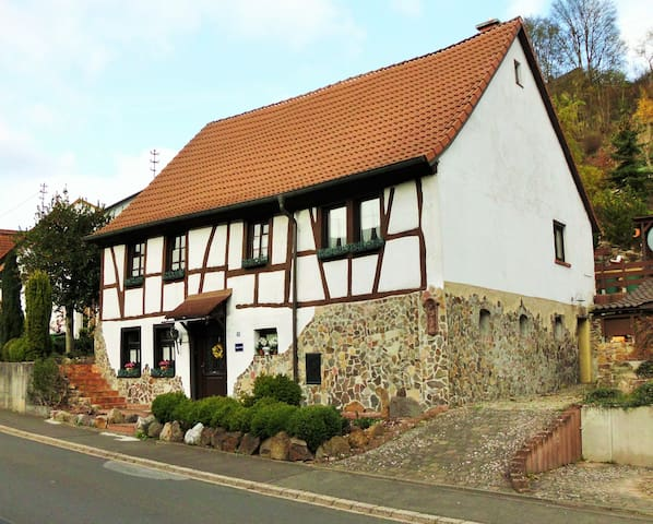 Cozy tradtional half-timbered house