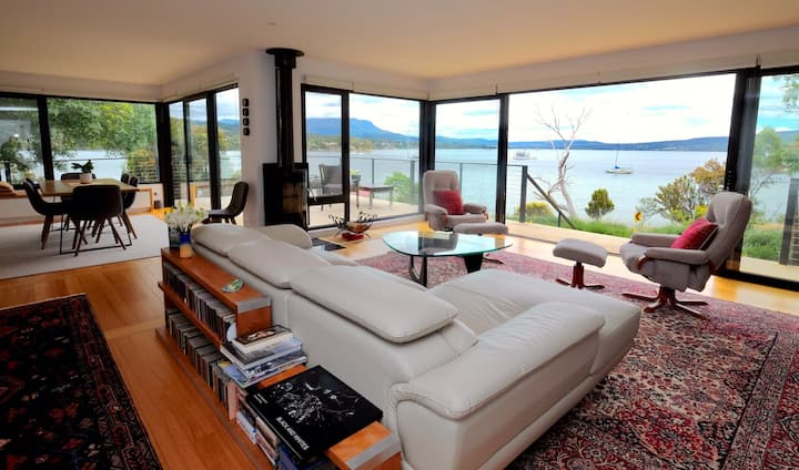 Waterfront retreat with uninterrupted views