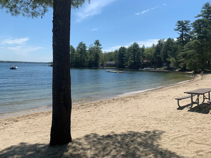 The Overlook at Patrician Shores.  Winnipesaukee sandy beach access!