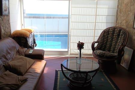 Estúdio, vista de  mar e piscina - Caxias - Apartemen