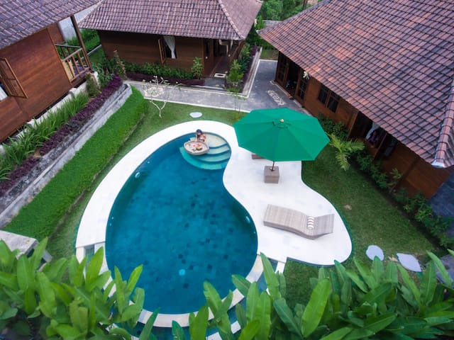 villa🏚1BR+ExtraBed⚡Close to waterfall 💦 temple😎
