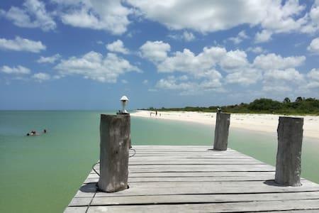 Lovely ocean front spacious 2 bed Villa Playa Maya