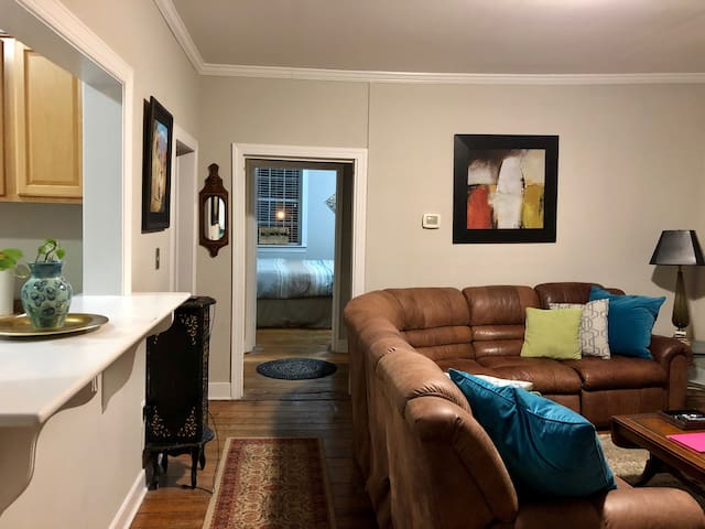 Historic 2nd floor downtown apartment