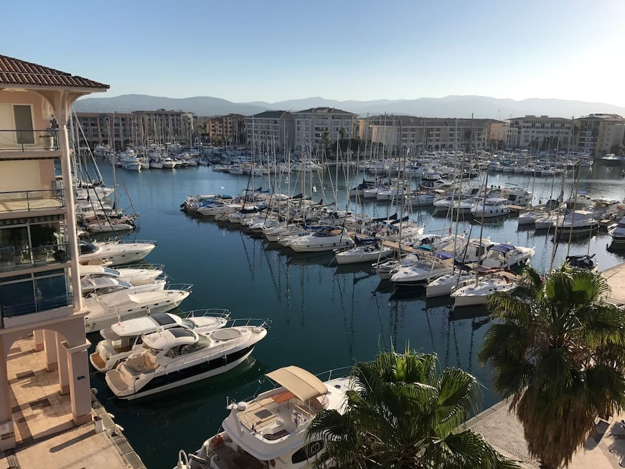 Vue port de la terrasse