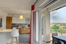 Open plan living with open views