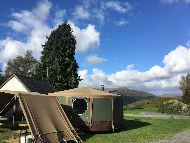 Yurt on Mawddach Estuary pets welcome