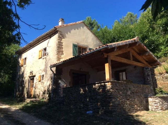 Typical old cosy stone house in Cevennes, France